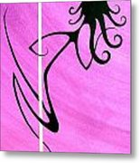 Pole Dancer Metal Print