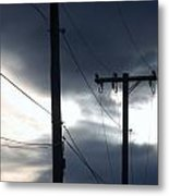 Poles And Sunsets Metal Print