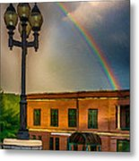 Police At The End Of The Rainbow Metal Print