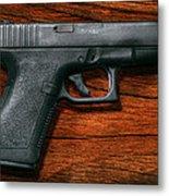 Police - Gun - The Modern Gun  Metal Print