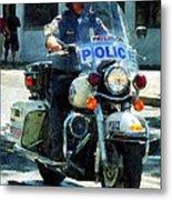 Police - Motorcycle Cop Metal Print