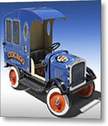 Police Peddle Car Metal Print