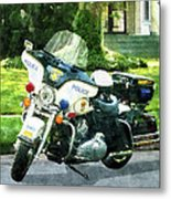 Police - Police Motorcycle Metal Print