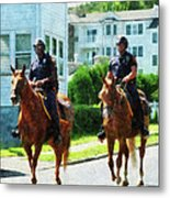 Police - Two Mounted Police Metal Print