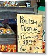 Polish Food Street Stand Metal Print