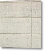 Polished Cement Wall As Background Metal Print