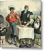 Political Blood Transfusion, 19th Metal Print by Science Photo Library
