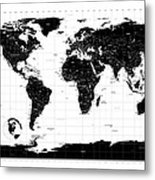Political World Map Metal Print