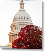 Politics Seeing Red Metal Print by Greg Fortier