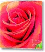 Polka Dot Beautiful Rose Metal Print
