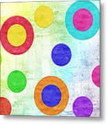 Polka Dot Panorama - Rainbow - Circles - Shapes Metal Print by Andee Design