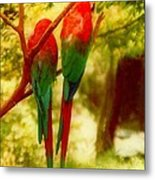 New Orleans Polly Wants Two Crackers At New Orleans Louisiana Zoological Gardens  Metal Print