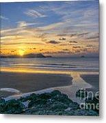 Polzeath Sunset 3 Metal Print