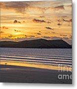 Polzeath Sunset 4 Metal Print