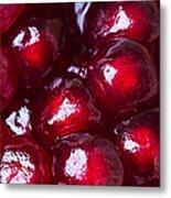 Pomegranate Closeup Metal Print