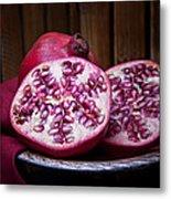 Pomegranate Still Life Metal Print by Tom Mc Nemar