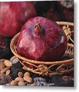 Pomegranates And Almonds Metal Print