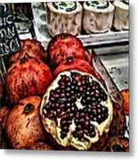 Pomegranates In Open Market Art II Metal Print
