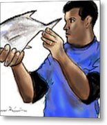 Pompano Catch Of The Day Metal Print