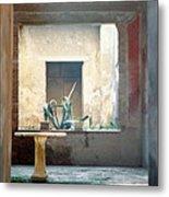 Pompeii Courtyard Metal Print