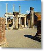 Pompeii In Ruins Metal Print