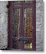 Pompeii Old Door Metal Print