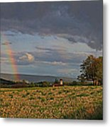 Pompey Center Rainbow Metal Print