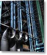 Pompidou Pipes Metal Print