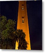 Ponce Inlet Lighthouse And Moon Metal Print