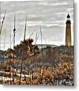 Ponce Inlet Lighthouse From The Dunes Metal Print