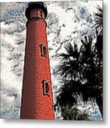 Ponce Lighthouse Artistic Brush Metal Print
