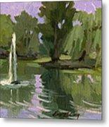 Pond At Fort Dent Tukwilla Metal Print