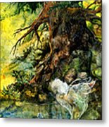 Pond Fairy Metal Print