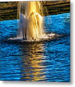 Pond Fountain Metal Print