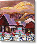 Pond Hockey 1 Metal Print