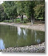 Pond In The Fall Metal Print