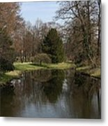 Pond In The Park Metal Print