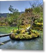 Pond Island And Gardens Metal Print