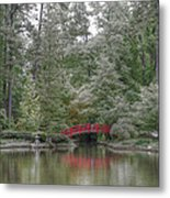 Pond Of Green Trees  Metal Print