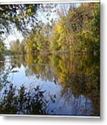 Pond Reflection At Limehouse Ontario Metal Print