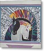 Ponies In Love Metal Print
