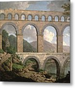 Pont Du Gard, Nimes Metal Print