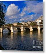 Pont Neuf Over The Seine River Paris Metal Print
