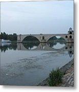 Pont Saint Benezet In The Eveninglight Metal Print