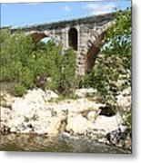 Pont St. Julien And River Metal Print