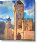 Pont Volontre Cahors France Metal Print
