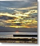 Pontchartrain Sunset Metal Print