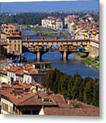 Ponte Vecchio And Arno River Metal Print