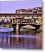 Ponte Vecchio Bridge - Florence Metal Print