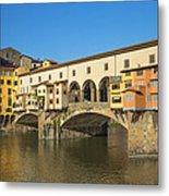Ponte Vecchio Bridge In Florence Metal Print